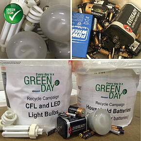 recycling bulbs batteries
