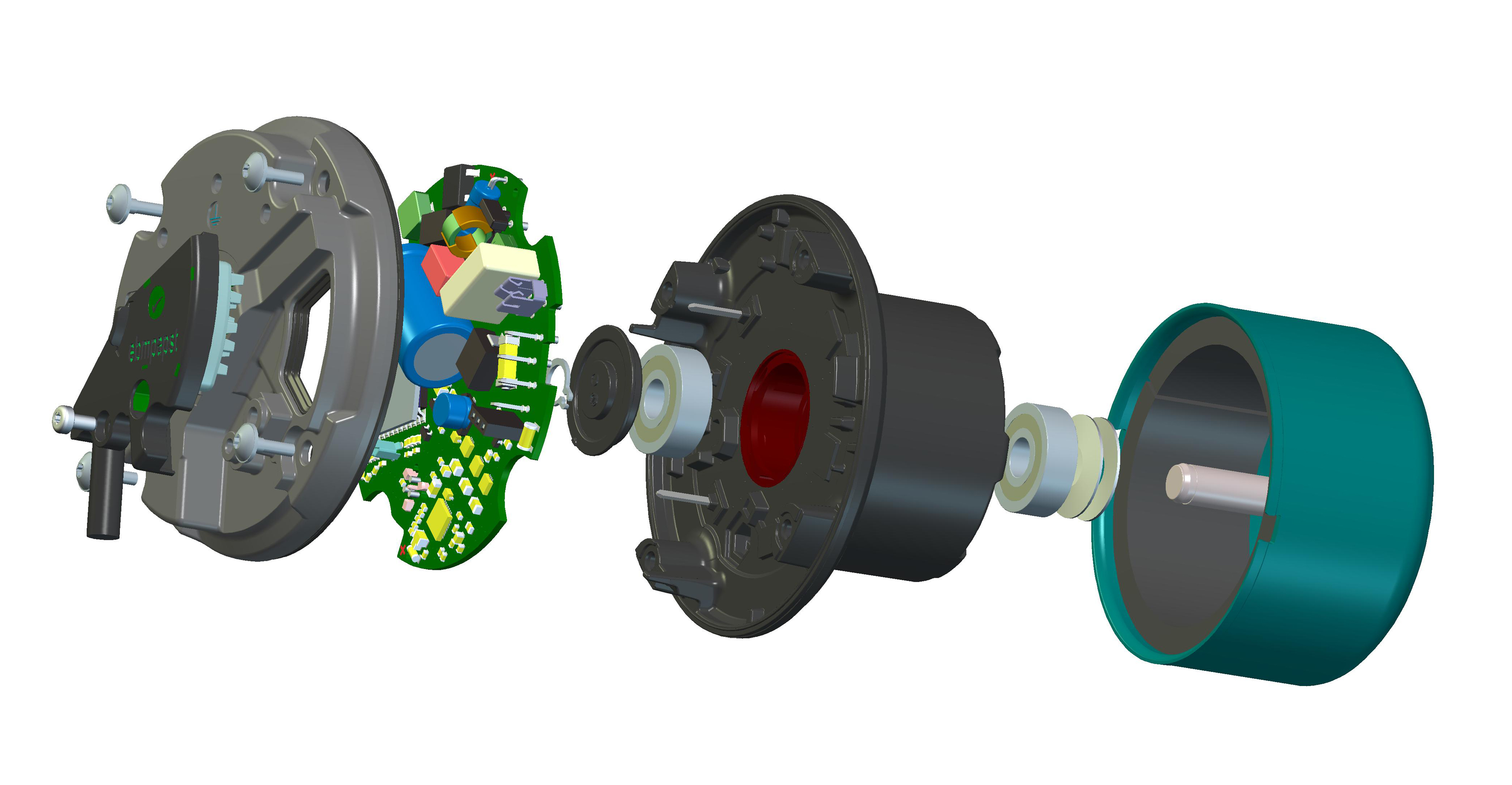 Fig 1 exploded view EC Motor